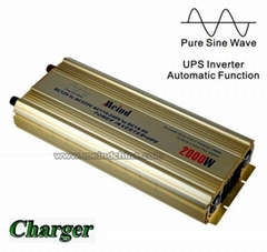 Pure Sine Wave Built-in Charger UPS DC 12V to AC 220V Sufficient 2000W Inverter