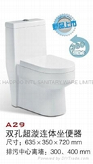 Double Super Tornado Flushing One-piece Toilet  A29