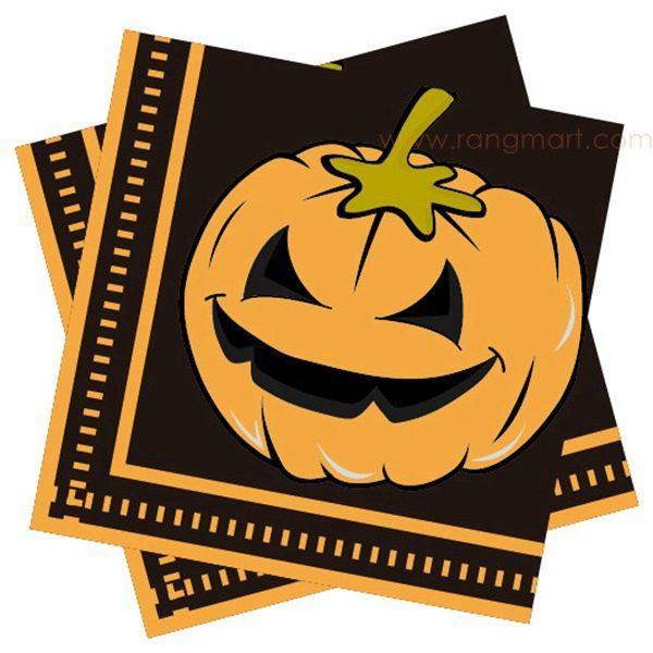 Halloween luncheon napkin printed paper napkin color napkin 33x33cm 1
