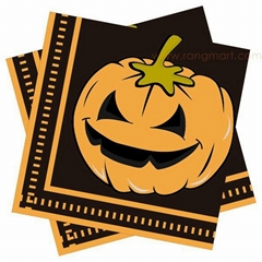 Halloween luncheon napkin printed paper napkin color napkin 33x33cm