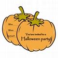 Happy Halloween invitation card  printed Happy birthday invitation card