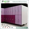 Jialifu design modern woodgrain hpl laminate lockers 2