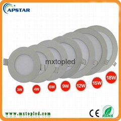 Shenzhen factory Indoor ultra thin flat round 15w led panel light