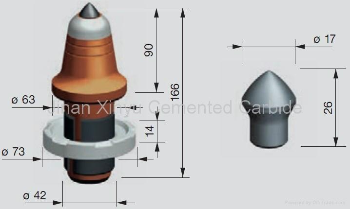 Cemented Carbide Road Milling Bit and Asphalt Bit 3