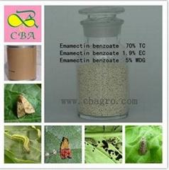 Emamectin benzoate:70% TC, 1.9% EC, 5%WDG