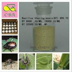 Bacillus thuringiensis BT:99% TC,8000-32000 IU/MG