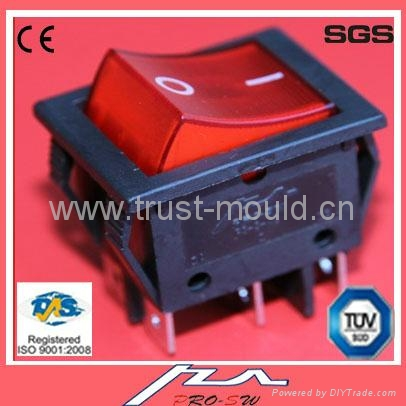 double pole lighted rocker switch 1