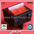 t85 manufacturer in china Rocker switch with light indicator and protective cove 2