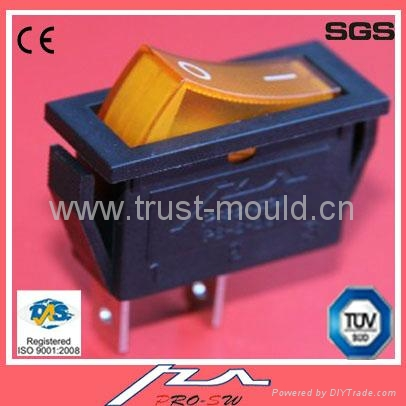 high quality 1e4 20a rocker switch with light 3