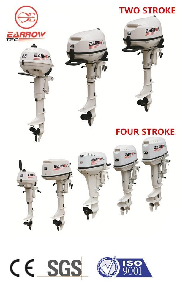 Outboard Motor 25hp 2 Stroke Earrow China Manufacturer