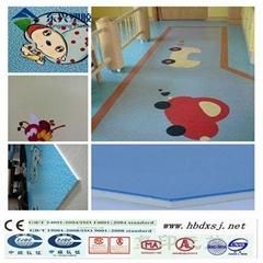 colorful pvc flooring roll for kindergarten
