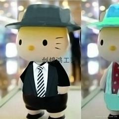 創錦鴻玻璃鋼工藝品卡通雕塑He