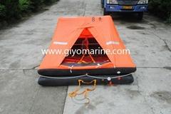 inflatable life raft for lifesaving equipment