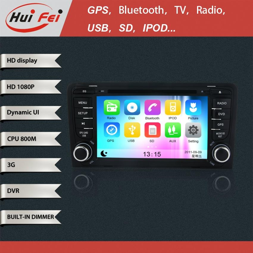 Touch Screen in Car DVD Player GPS NAVIGATION support bluetooth NFC Dual-zoneUSB 3