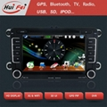 Touch Screen in Car DVD Player GPS NAVIGATION support bluetooth NFC Dual-zoneUSB 4