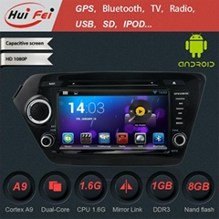 Huifei touch Screen auto in Car DVD auto radio Player with GPS NAVIGATION