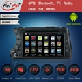 Pure android car in dash dvd stereo player with GPS for SsangYong Kyron Actyon 2 1