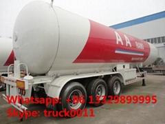 factory price 59.52cbm 25tons bulk lpg gas trailer for sale
