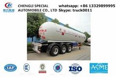 3 axles 58cbm LPG (propane)tanker semi-trail