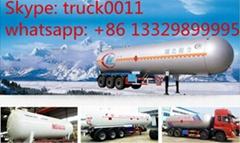 58.5cbm bulk lpg gas tank trailer for sale