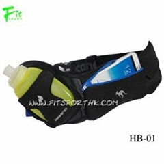 Neoprene Hydration Belt with Phone Pouch and Water Bottle Holder