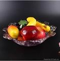 欧式创意孔雀大号水晶玻璃水果盘  5