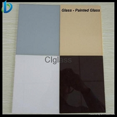 2-12mm colorful back painted glass