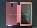 Ultra-thin design phone case for Samsung Note 3 with full view window 5