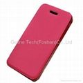 PC with PU leather phone case for iPhone