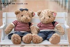 超萌毛絨玩具毛衣泰迪熊