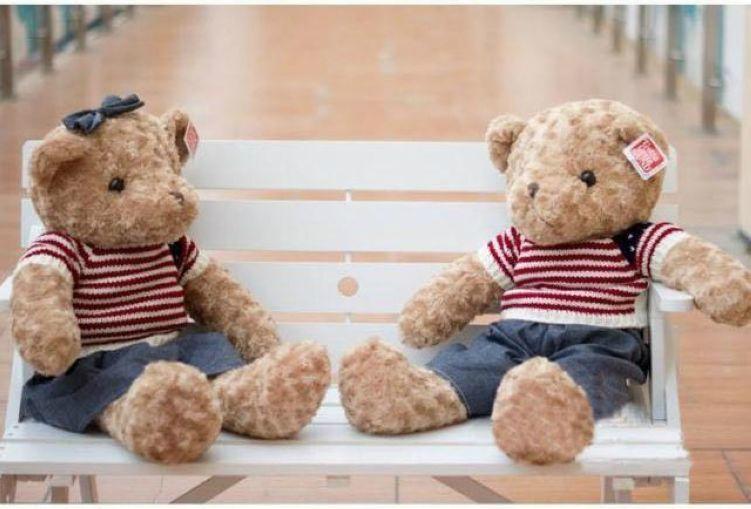 超萌毛绒玩具毛衣泰迪熊 5