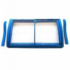 ABS Injection frame chest freezer Glass Door