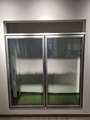 Side by Side Aluminum Glass Door for Cold Room 2