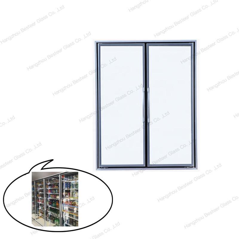 Walk In Cooler 3 Layers Glass Door with Aluminum Frame 1