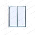 Side by Side Aluminum Glass Door for Cold Room 1