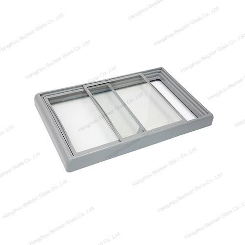 ABS injection outer frame flat glass door for freezer 1