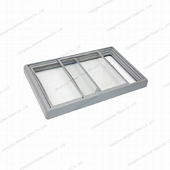 ABS injection outer frame flat glass door for freezer