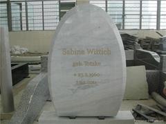 white marble polished engrave stone