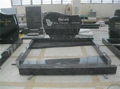 G654 grey cross gravestone design for
