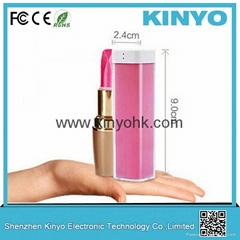 China supplier battery case power supply 18650 battery charger lipstick batter