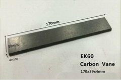 170x39x4mm carbon vane 1pcs for Becker Vacuum Pumps / Becker Pump Vanes /Carbon-
