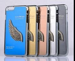 3D Love Wings Metal Aluminum Hard Case Cover Skin For iPhone 6 6 plus