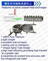 Titanium Coaxial Condenser Heat Exchanger