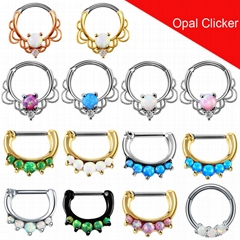Septum Nose Ring Fake Piercing Nostril Nose Stud Clip On Nose Hoop Body Jewelry