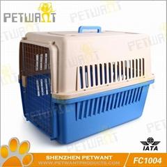 Mutiple sizes plastic pet flight cages
