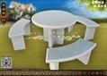 整套園林石桌椅 4