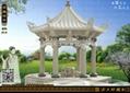 六角亭雕刻 3