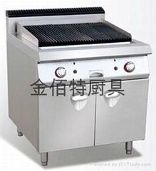 埃科菲火山石燒烤爐連櫃座