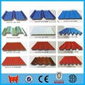 color galvanized steel corrugated roof