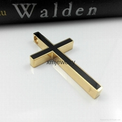 Xin Min Jewelry Stainless Steel Large Cross Pendant Necklace